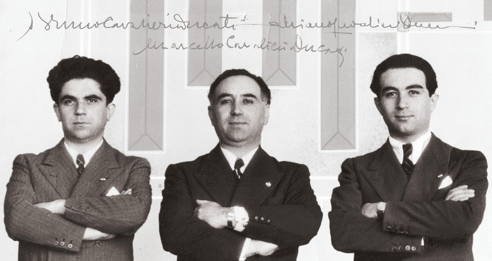Adriano, Bruno and Marcello: the dream of the Ducati brothers