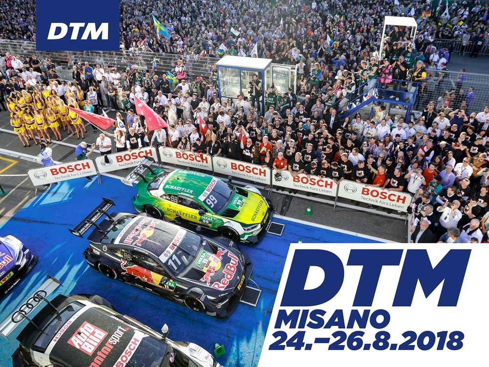 Unica tappa italiana del campionato DTM al Misano World Circuit