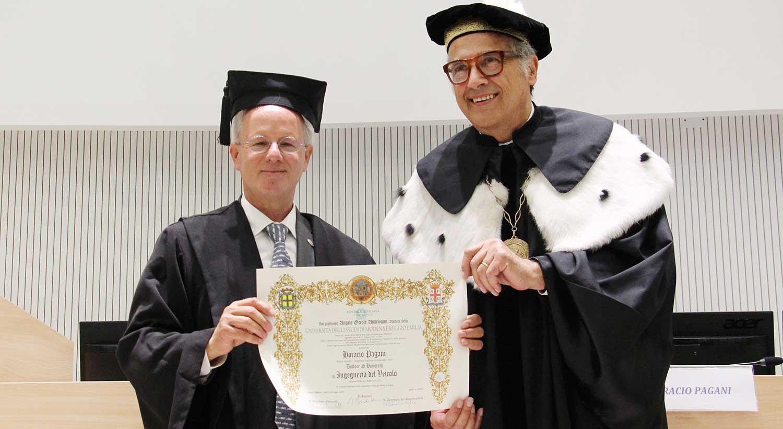 Unimore: Horacio Pagani riceve la laurea honoris causa in Ingegneria del Veicolo.