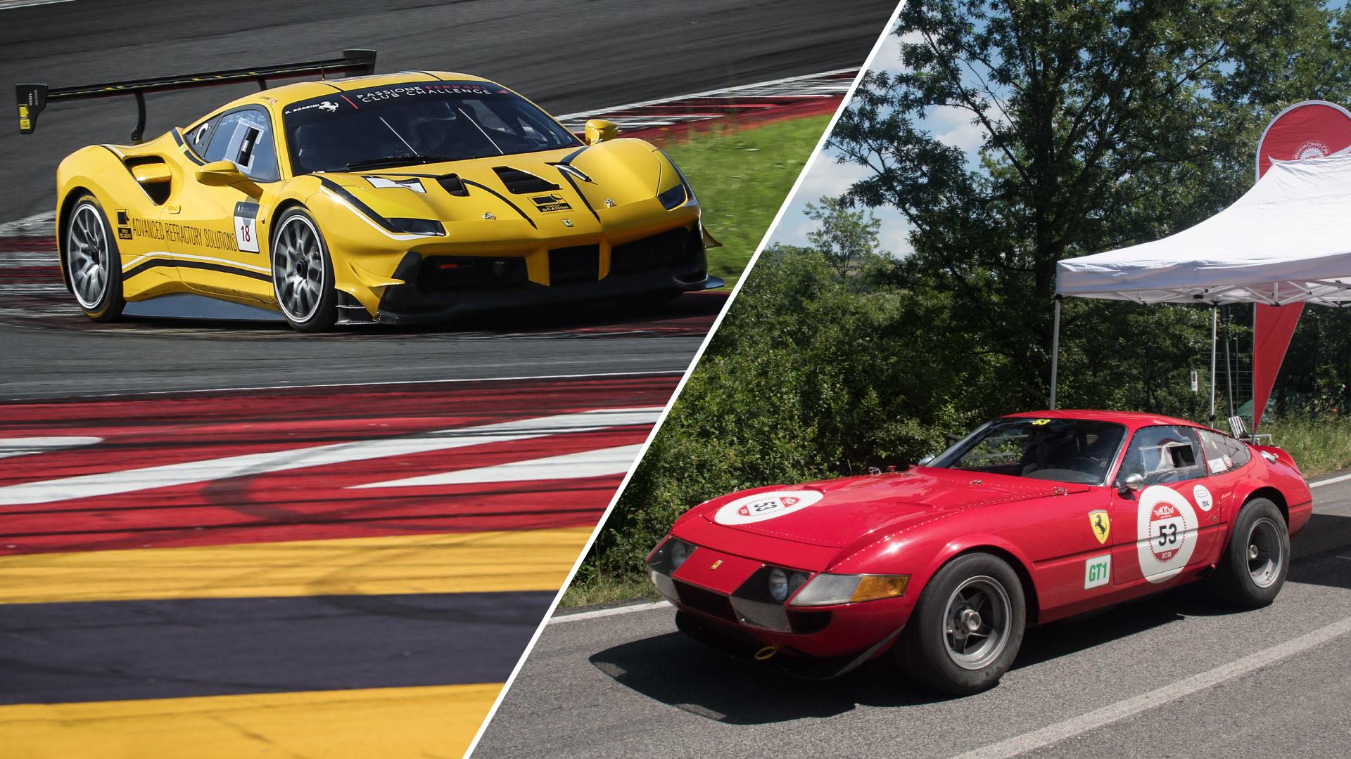 Modena Cento Ore e Ferrari Challenge: auto d'epoca e motorsport sui circuiti della Motor Valley.