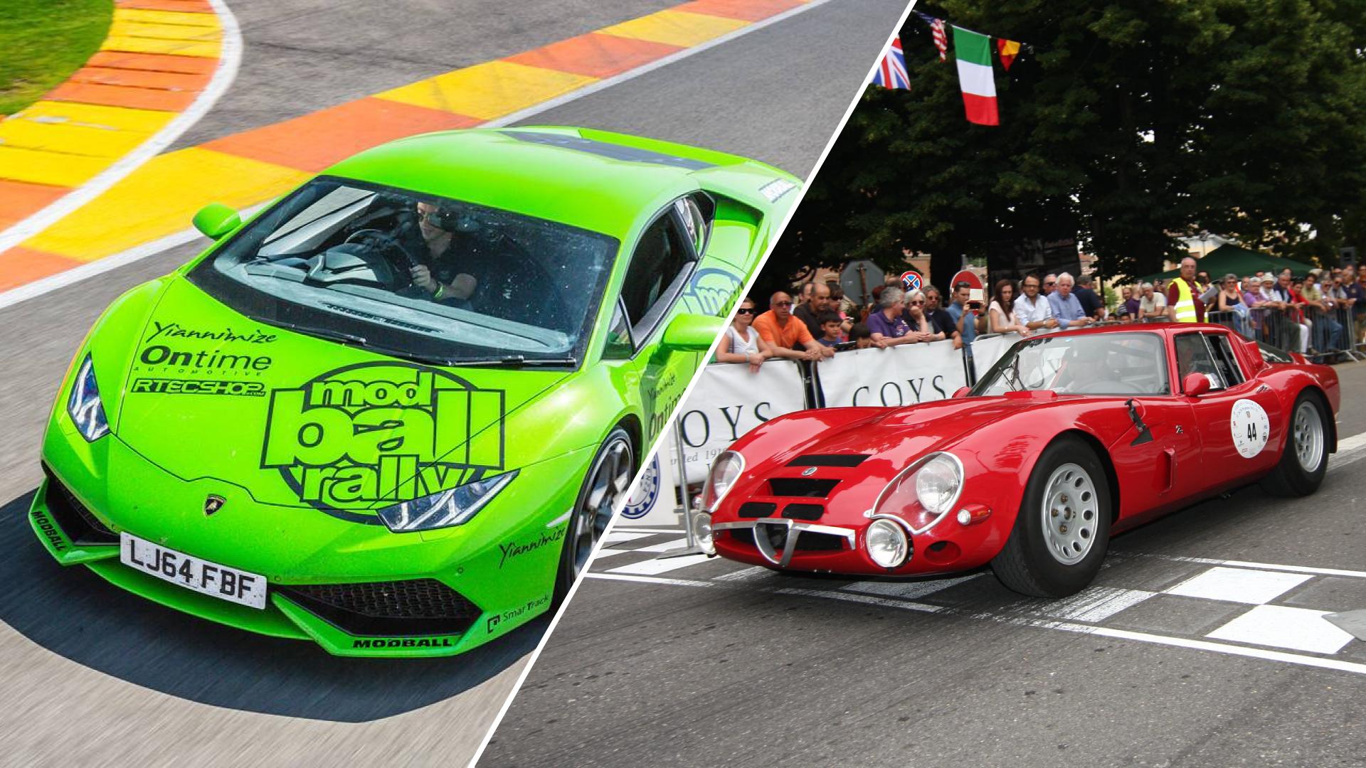 Supercar e auto d'epoca all'Autodromo di Varano con Modball Europe Rally e Vernasca Silver Flag.