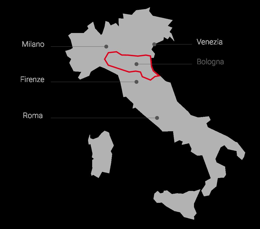 Cartina Italia Emilia Romagna.Motor Valley Il Sito Della Terra Dei Motori Dell Emilia