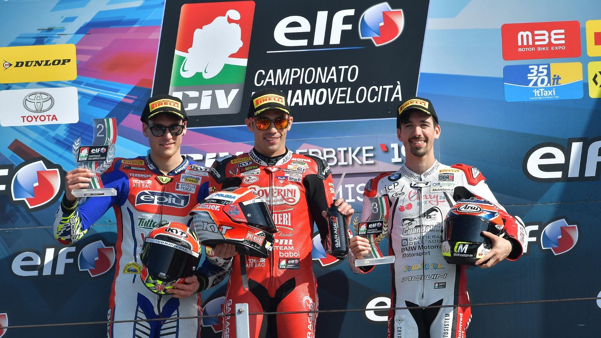Primo round dell'ELF CIV 2019 a Misano: doppiette per Zannoni e Pirro.