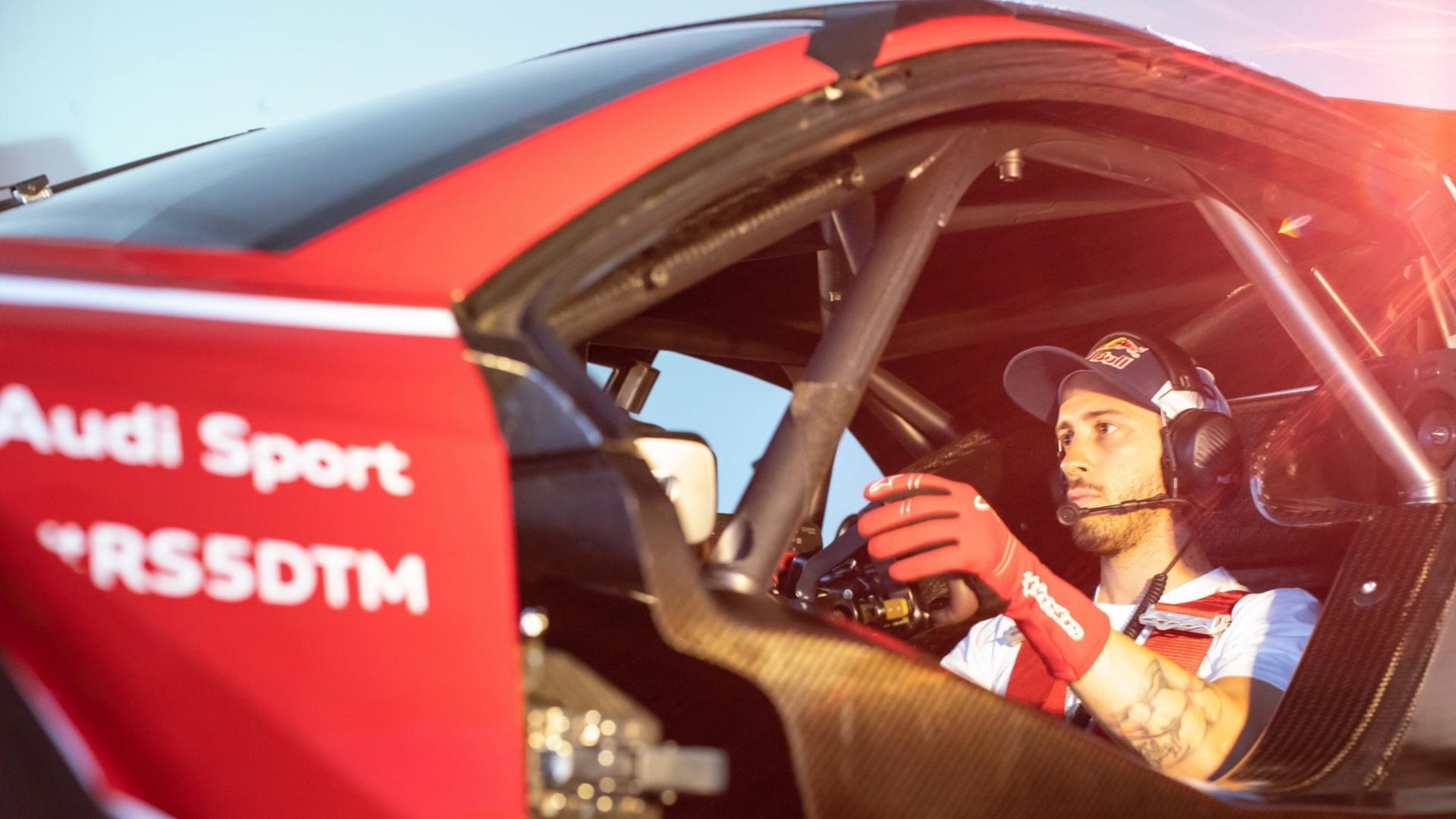 Andrea Dovizioso in pista con Audi al DTM 2019.