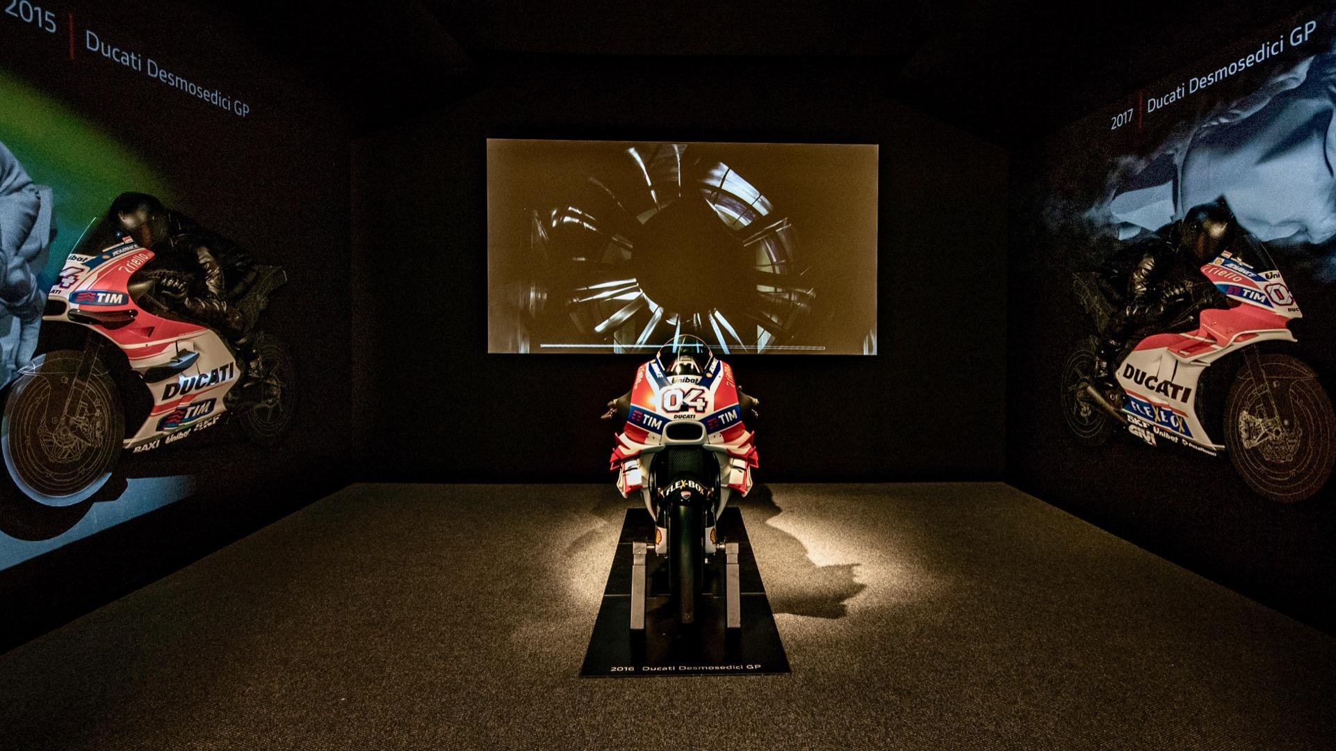 Anatomia della Velocità: in mostra l'aerodinamica secondo Ducati.
