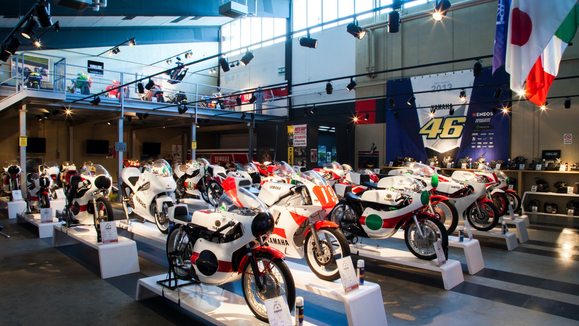 The Yamaha story (and others) in the COMP Poggi Moto Collection.