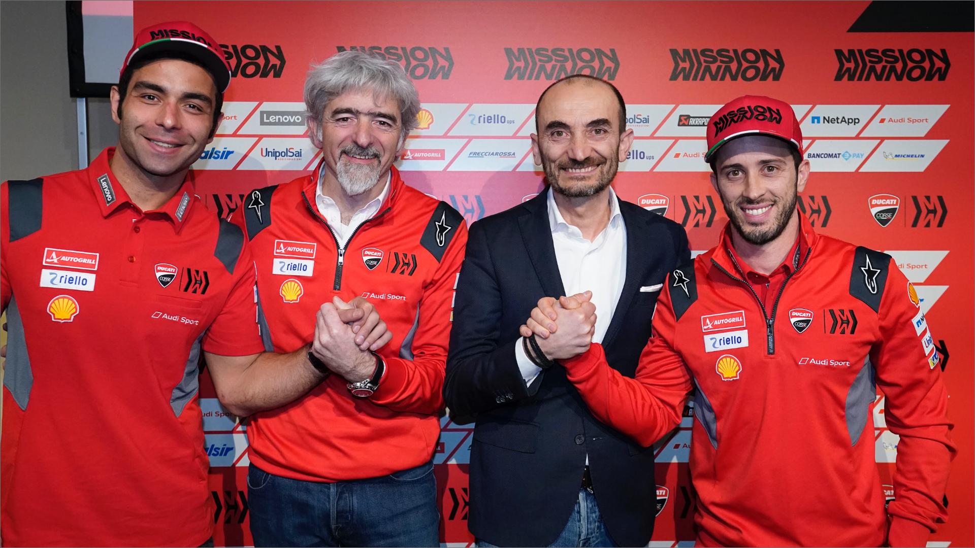 Ducati, presentazione MotoGP 2020: a Palazzo Re Enzo di Bologna si alza il sipario.