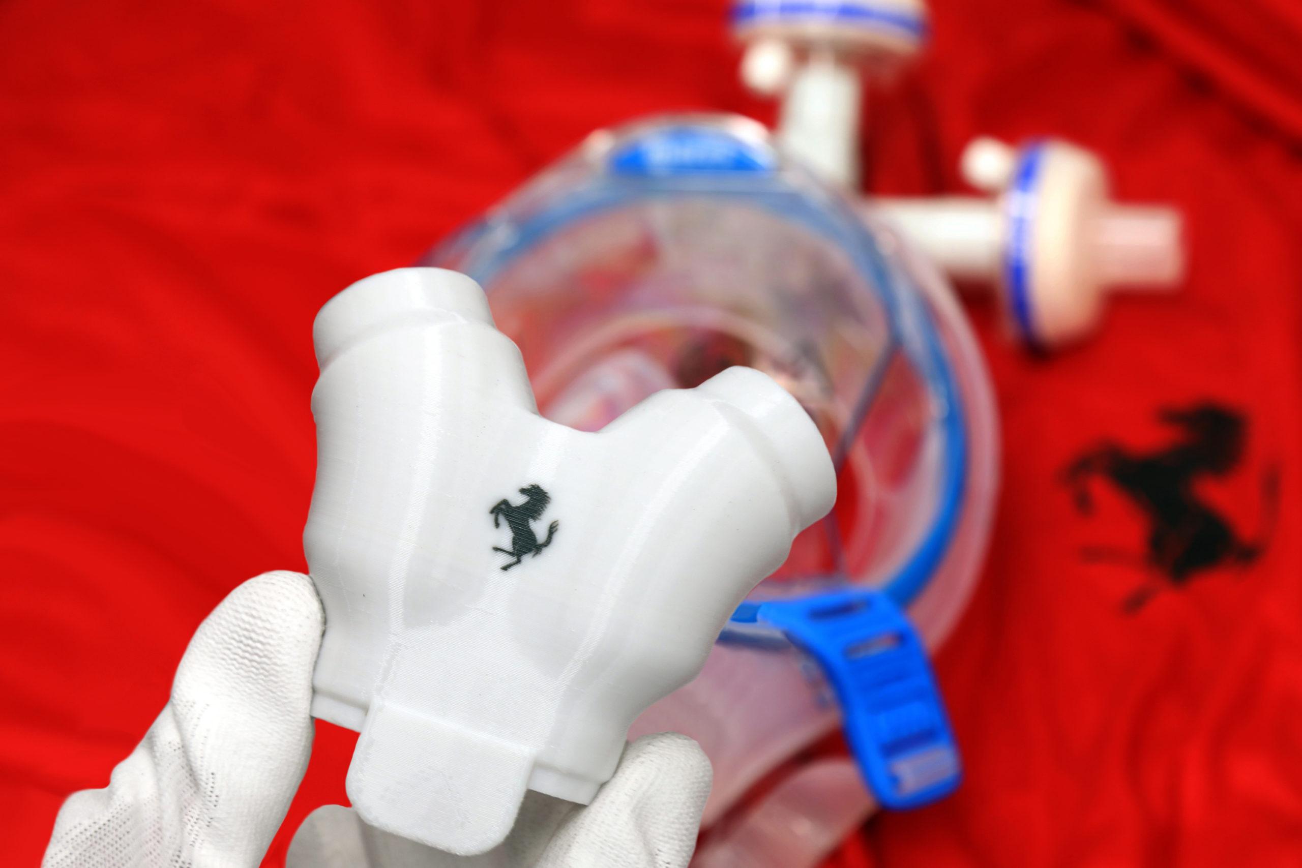 Respiratori polmonari, ecco le valvole prodotte da Ferrari.