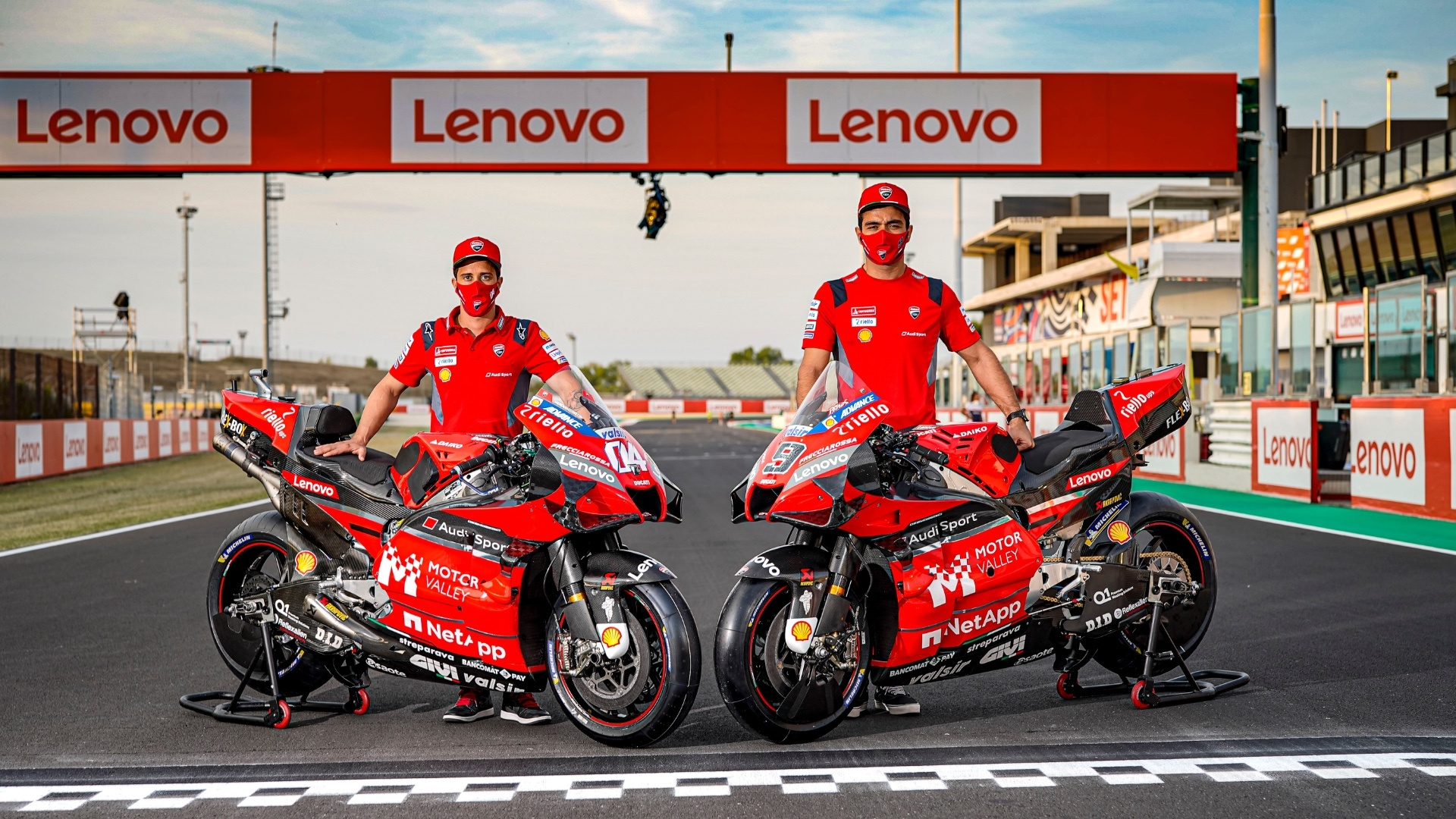 The Motor Valley logo on the fairings of the Ducati Desmosedici GP during the two MotoGP races in Misano.