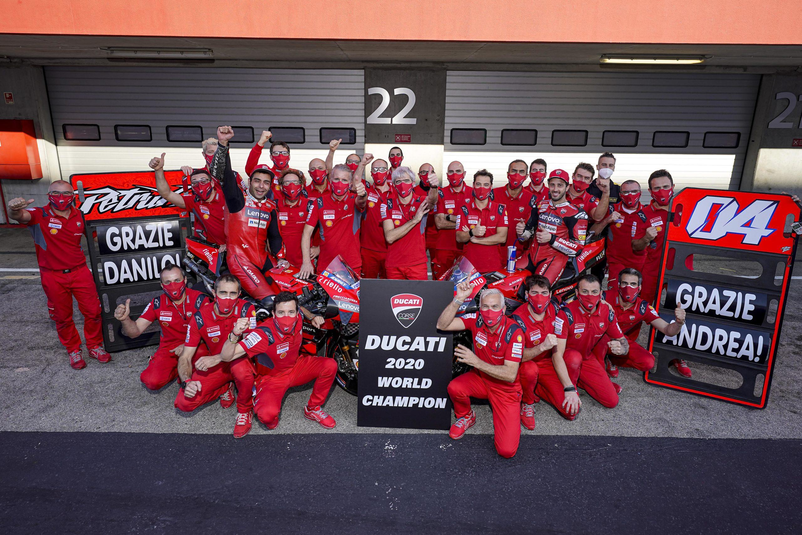 Ducati Team is 2020 Constructors' World Champion