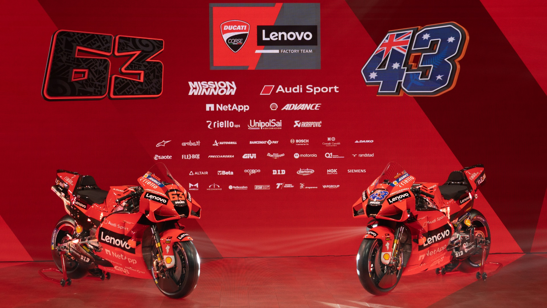 The 2021 Ducati Lenovo Team presented online.