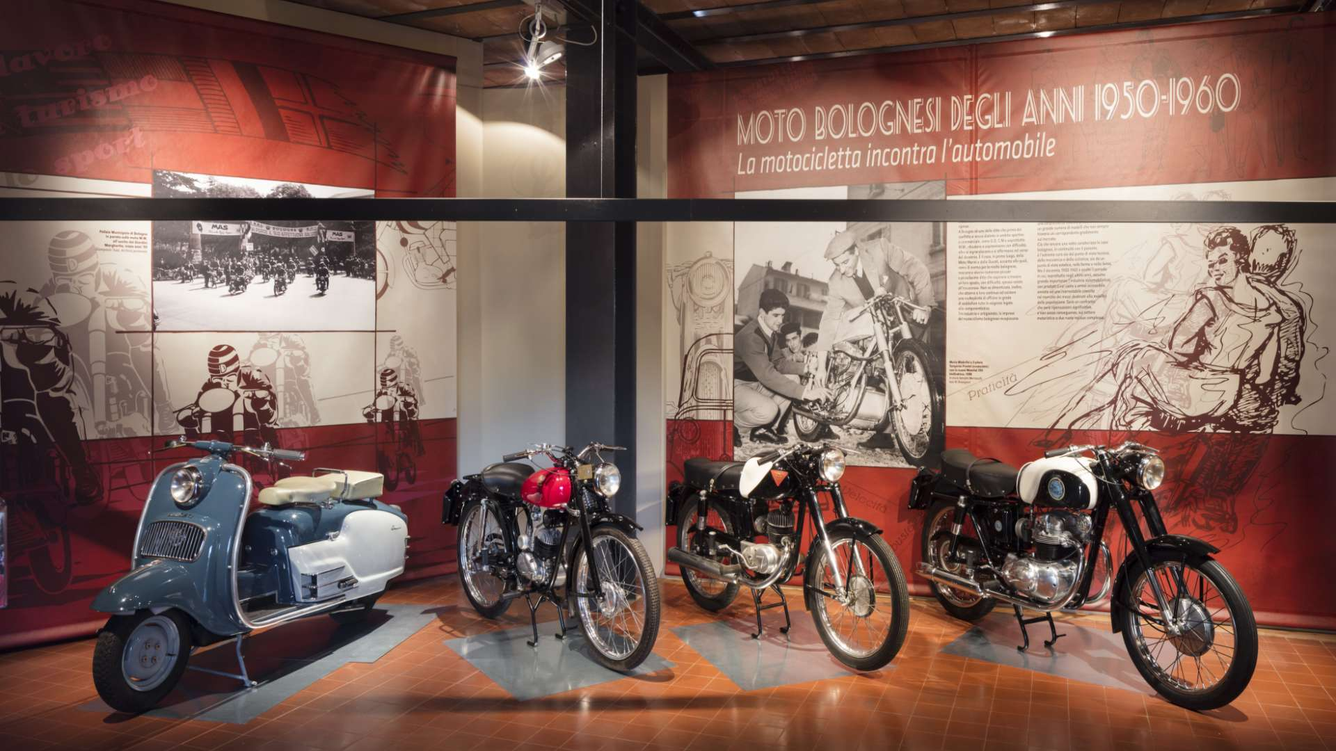 Moto bolognesi of the 50s-60s, in the Motor Valley an exhibition that celebrates a great past.